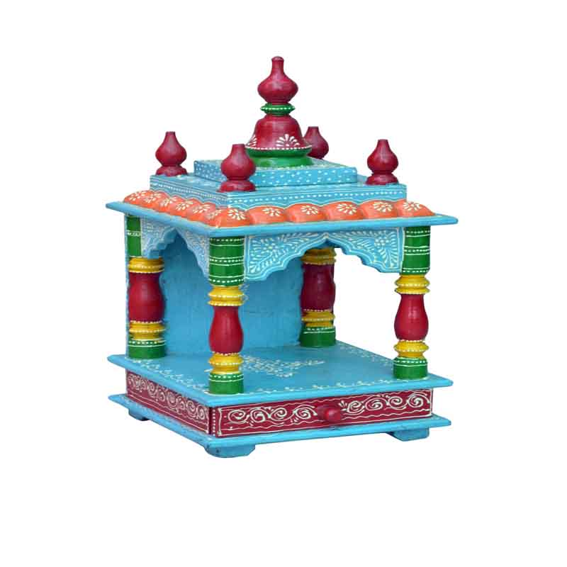 Glow Homes Hand Painted Wooden  Temple KWID-11F