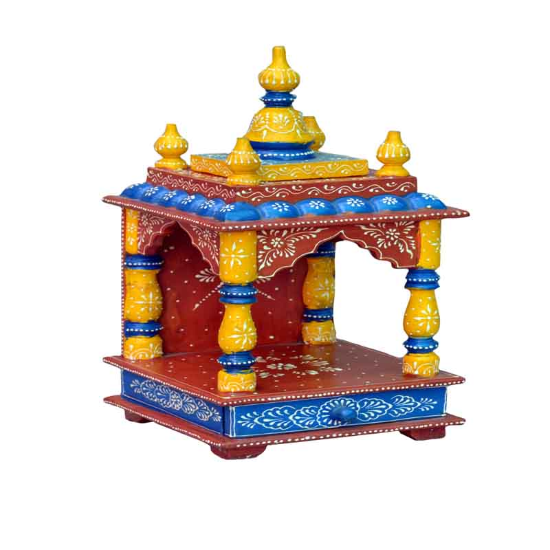 Glow Homes Hand Painted Wooden  Temple KWID-11G