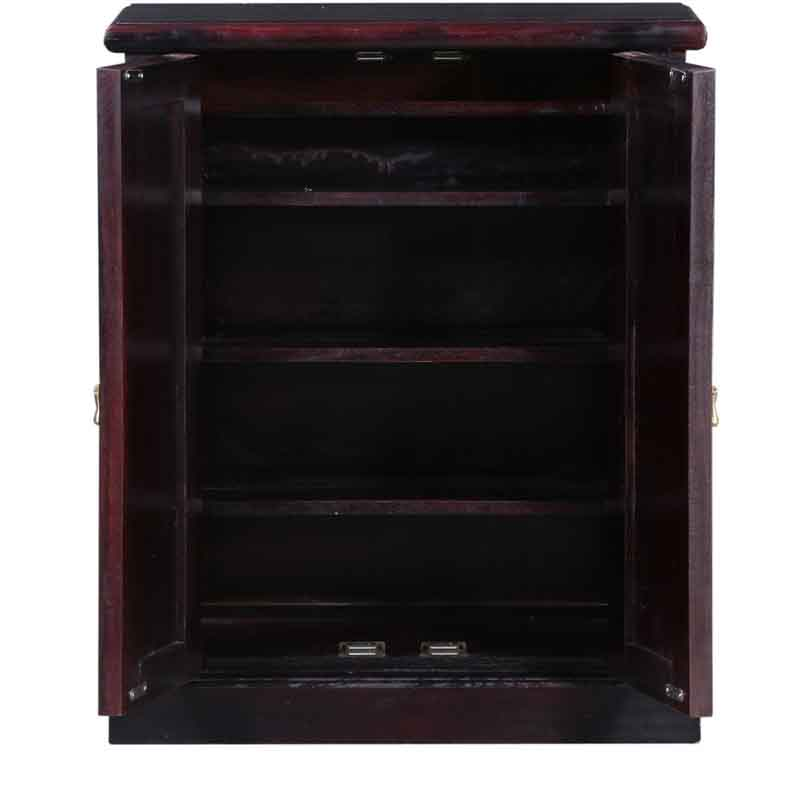 Moorni Solid Wood Shoe Rack In Passion Mahagony Finish  SBA051