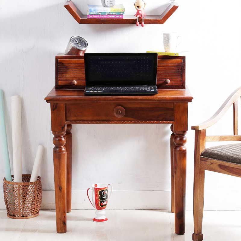 Navi Art Wood Laptop Table in Honey Oak Finish - SBA081