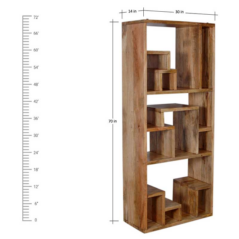 Navi Art Wood Display Rack in Honey Oak Finish - SBA090