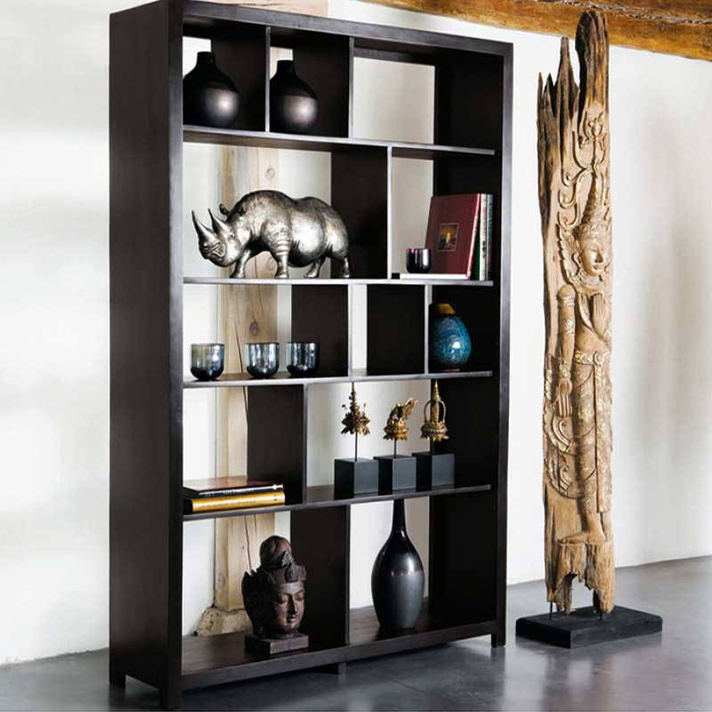 Navi Art Wood Display Unit in Honey Oak Finish - SBA099