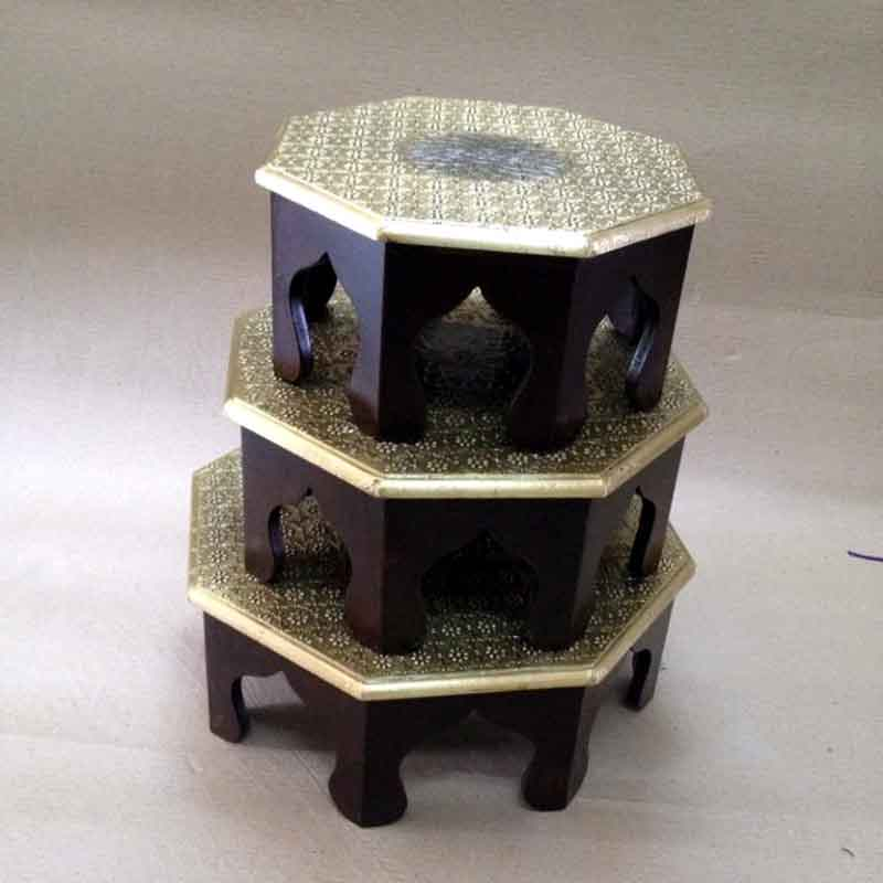 Glow Homes Wooden Chowki SBAD047