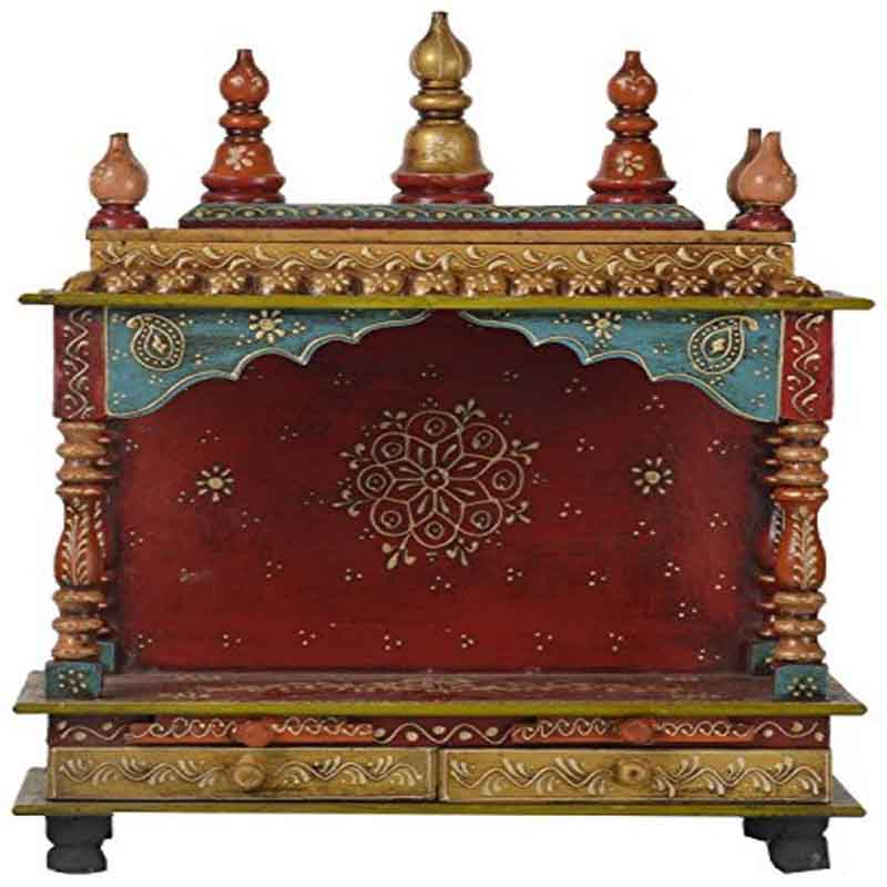 Glow Homes Hand Painted Wooden  Temple SBAD086