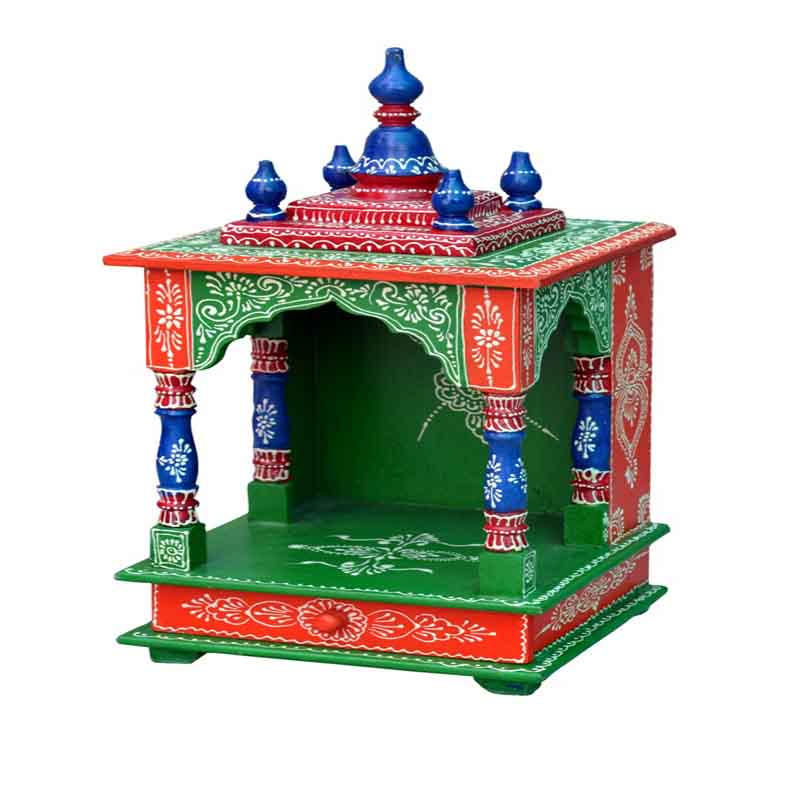 Glow Homes Hand Painted Wooden Temple --- SE-22B