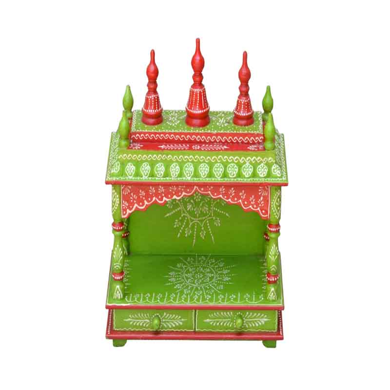 Glow Homes Hand Painted Wooden Temple se-33a