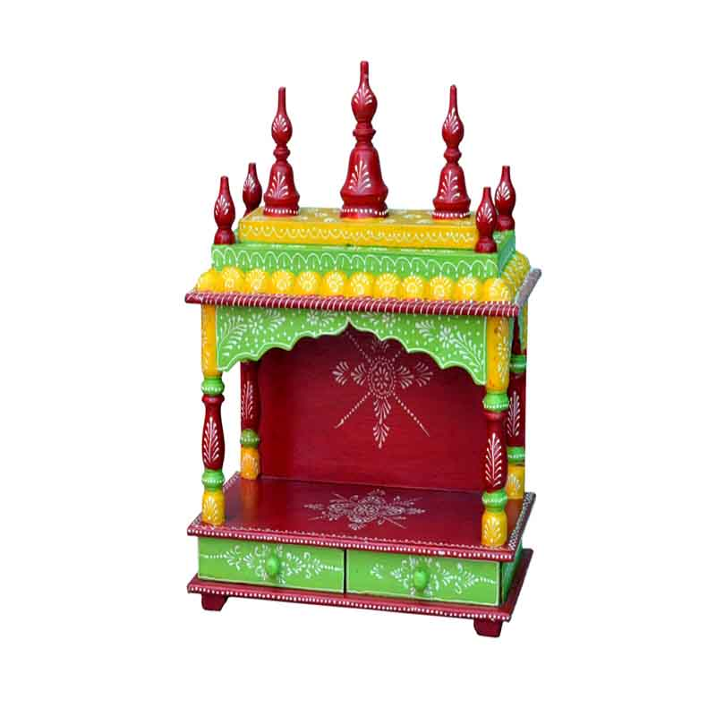 Glow Homes Hand Painted Wooden  Temple se-33b