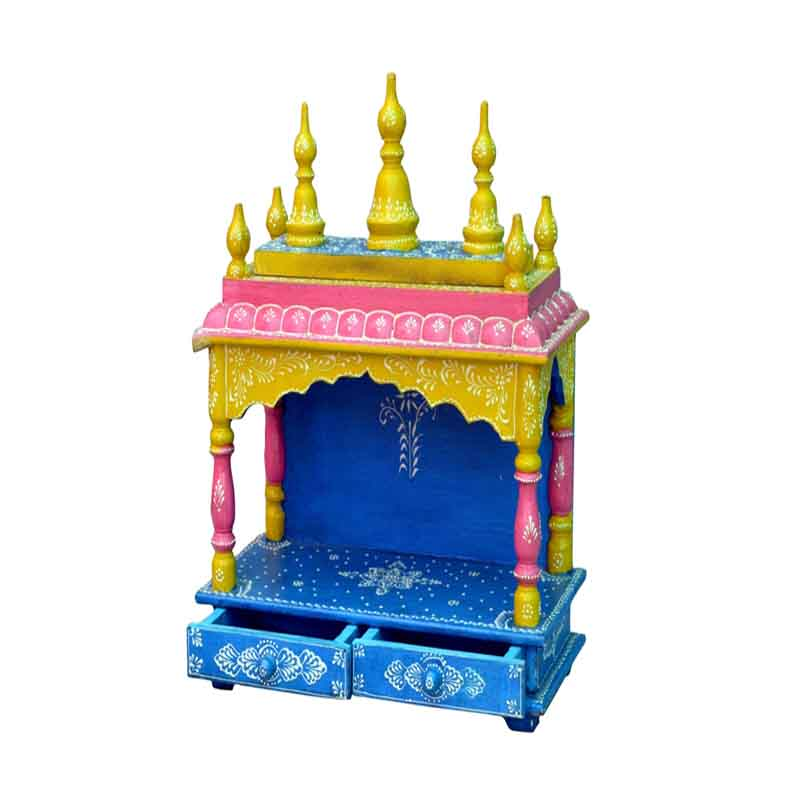 Glow Homes Hand Painted Wooden  Temple se-33e