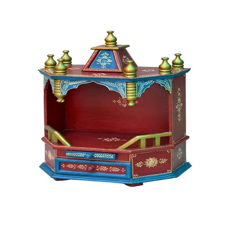 Glow Homes Hand Painted Wooden  Temple SE-44C