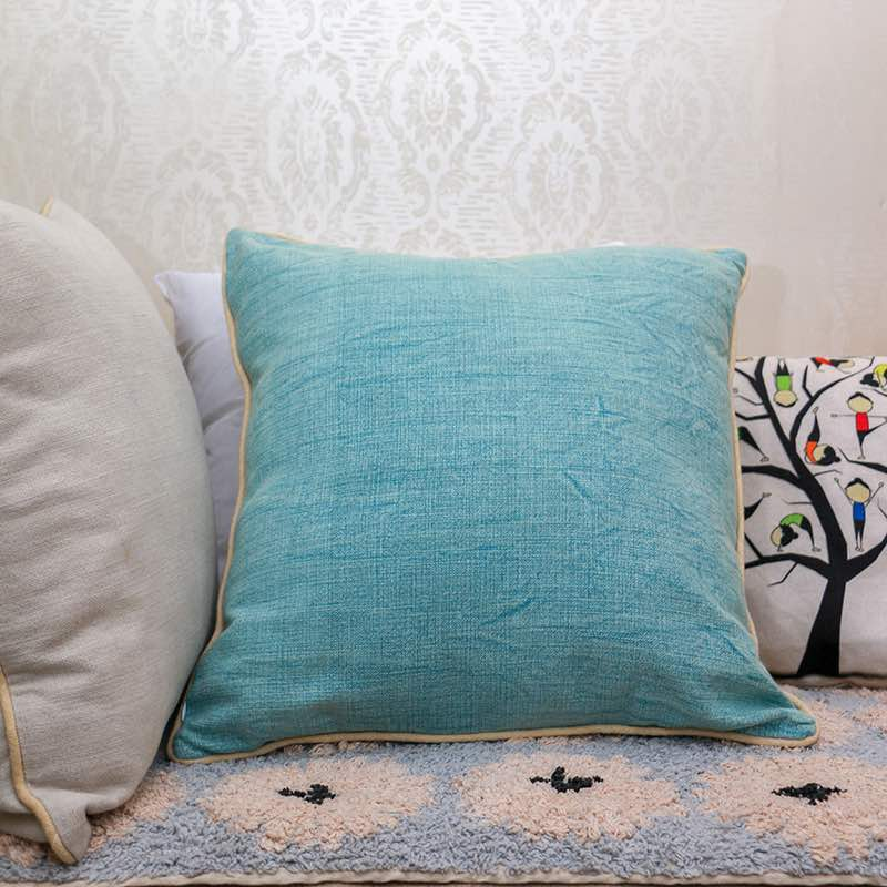 Moorni Cotton Cushion With Stone Wash With Piping -TT-3091