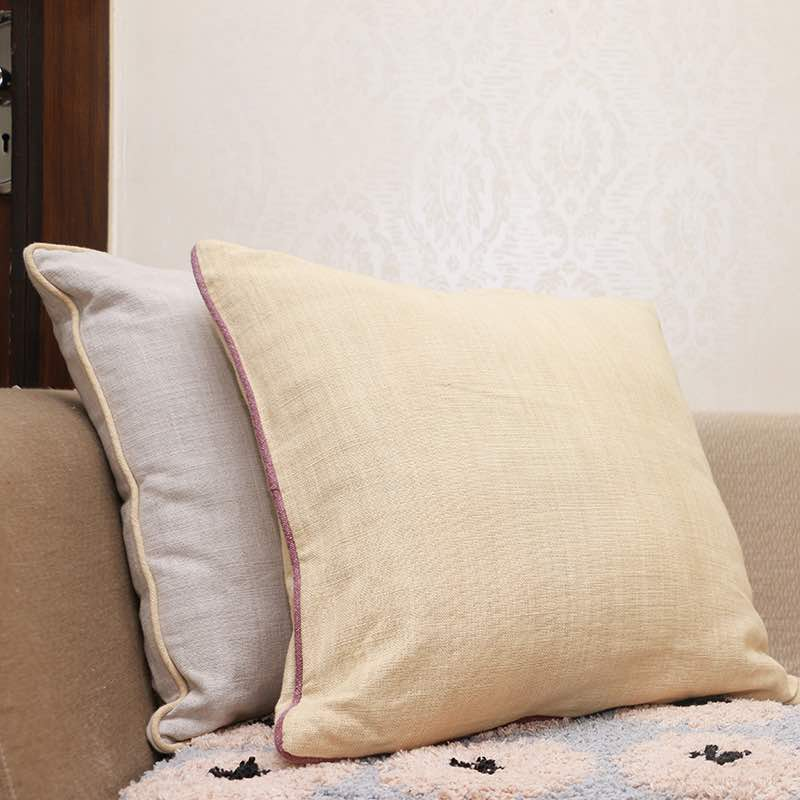 Moorni Cotton Cushion With Stone Wash With Piping -TT-3143