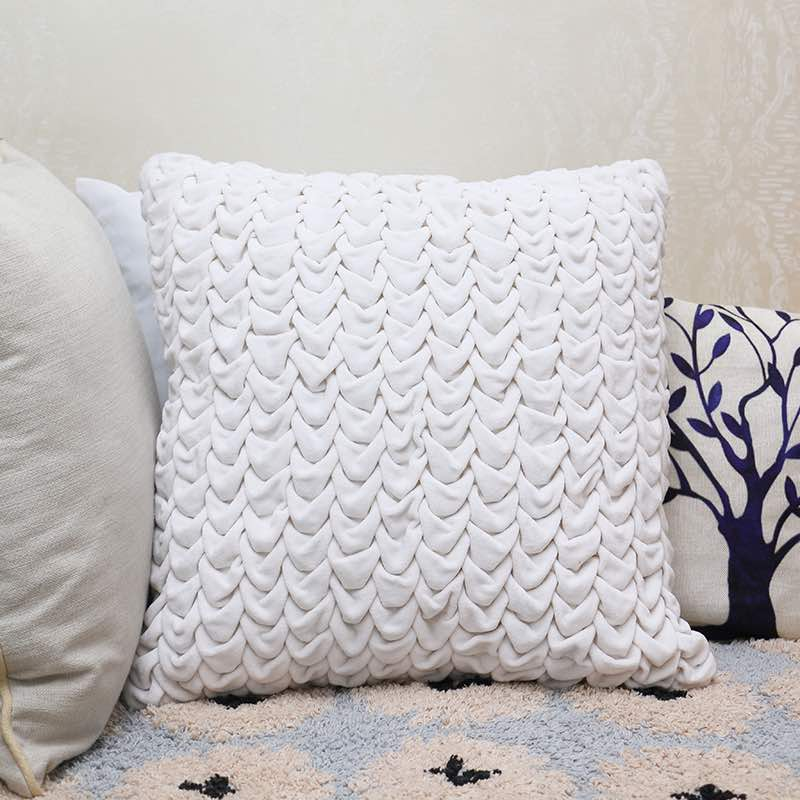 Moorni Hand Work Velvet Cotton Cushion -TT-3356