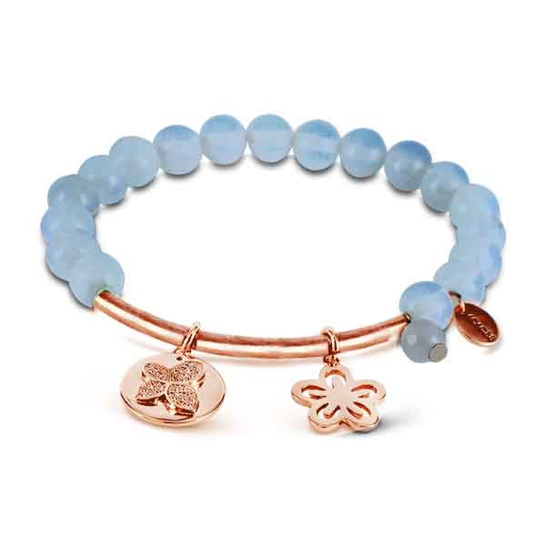 Coco88 Beloved Collection White Opal Natural Stones Bracelet