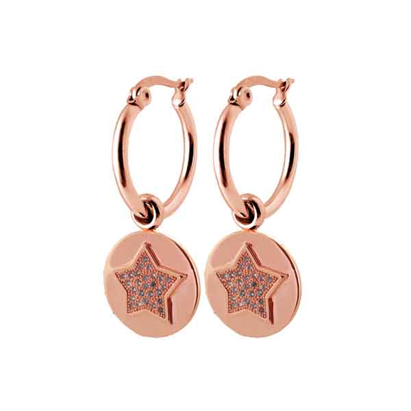 Coco88 Sense Collection Round Pendant Star Earings