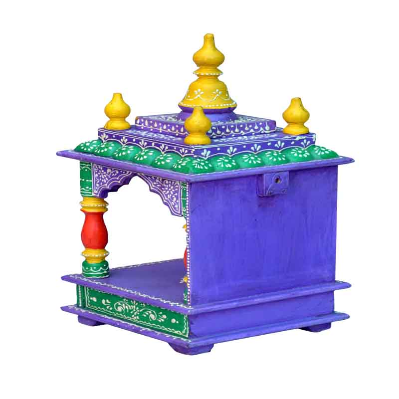 Glow Homes Hand Painted Wooden  Temple KWID-11C