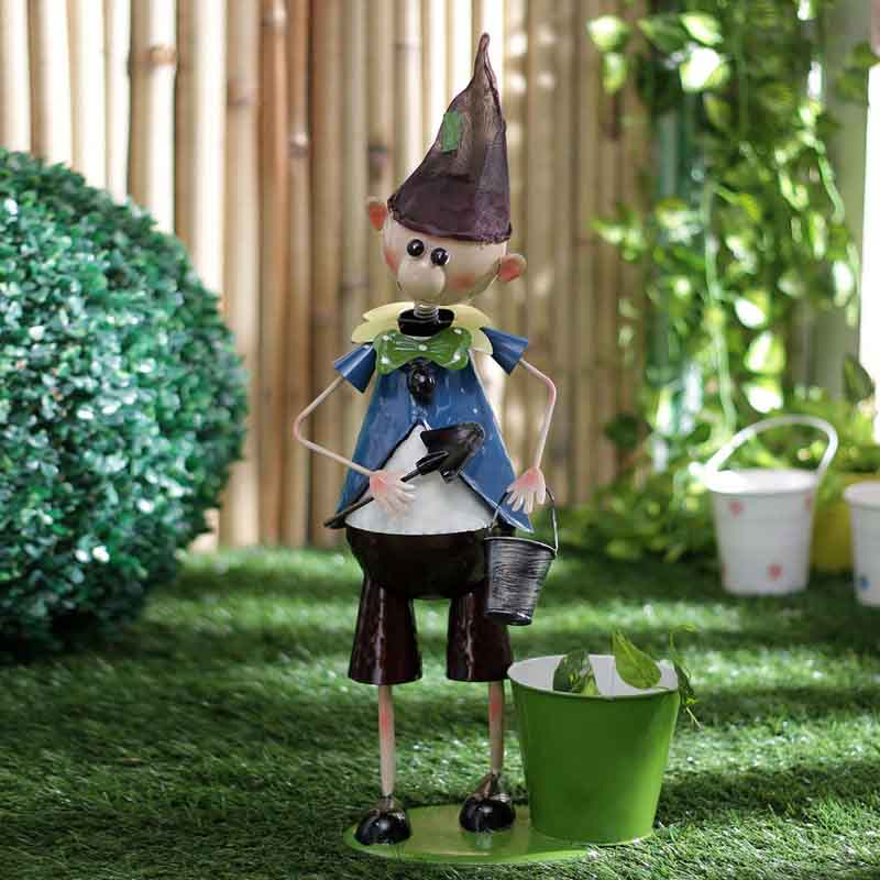 Elf Boy Metal Planter