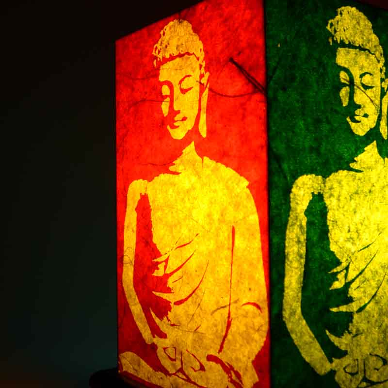 Meditating Buddha Table Lamp