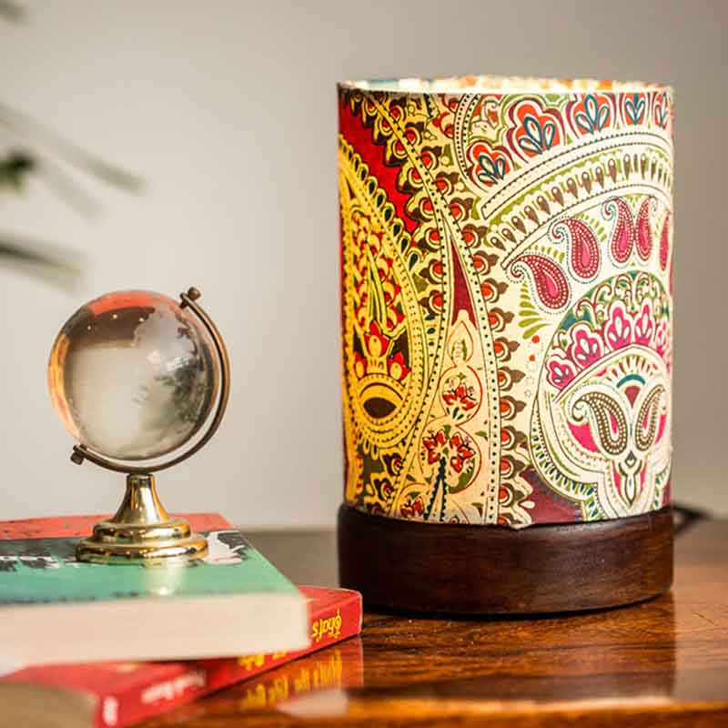 Mini Ethnic Table Lamp In Sheesham Wood