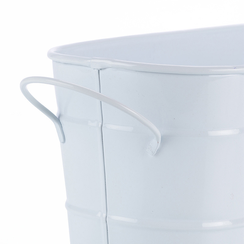 White Oval Planter Large