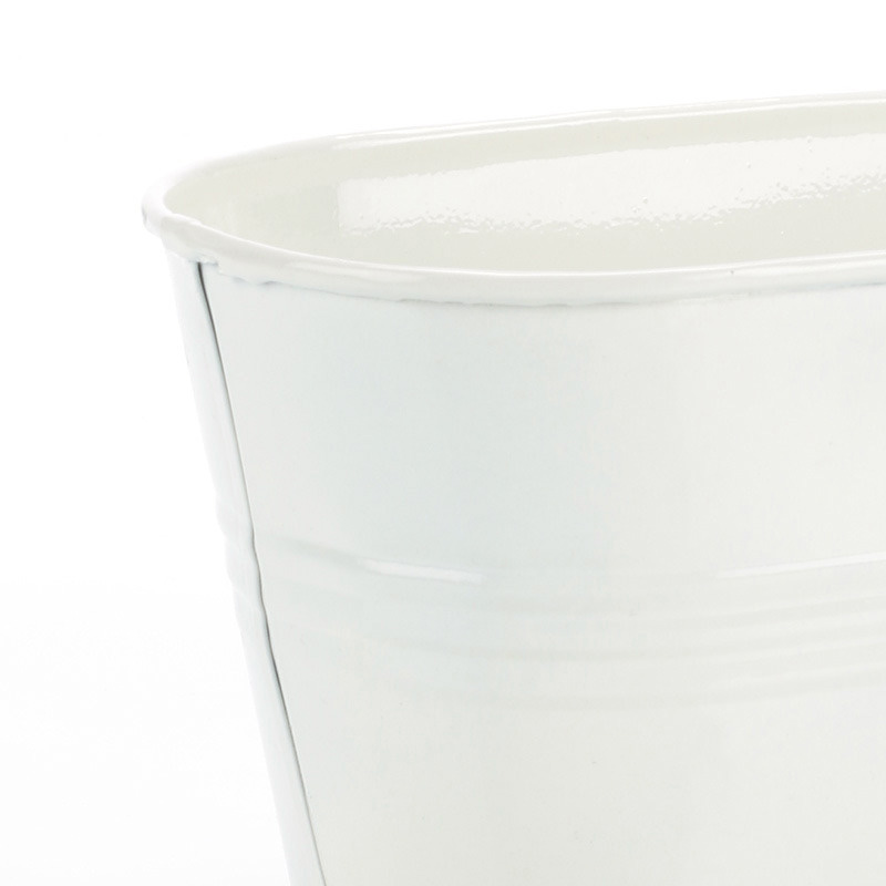 White Oval Planter Small