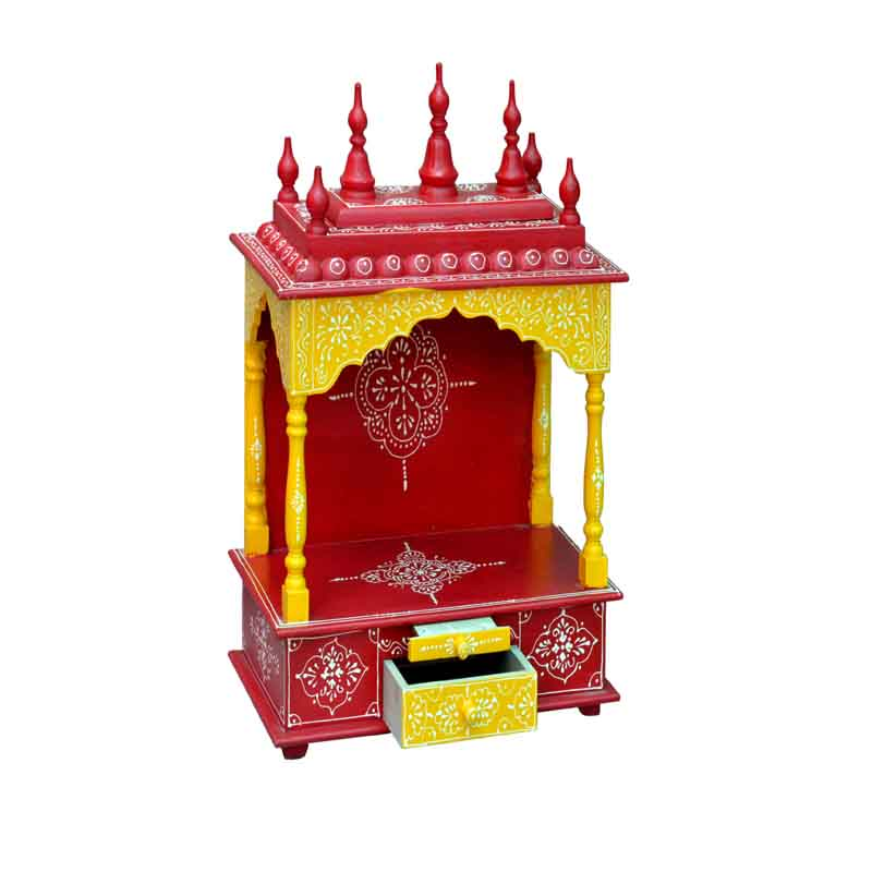 Glow Homes Hand Painted Wooden  Temple se-55b