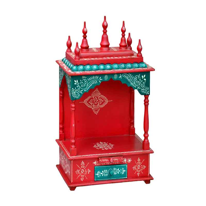 Glow Homes Hand Painted Wooden  Temple se-55c