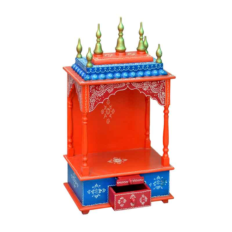 Glow Homes Hand Painted Wooden  Temple se-55f