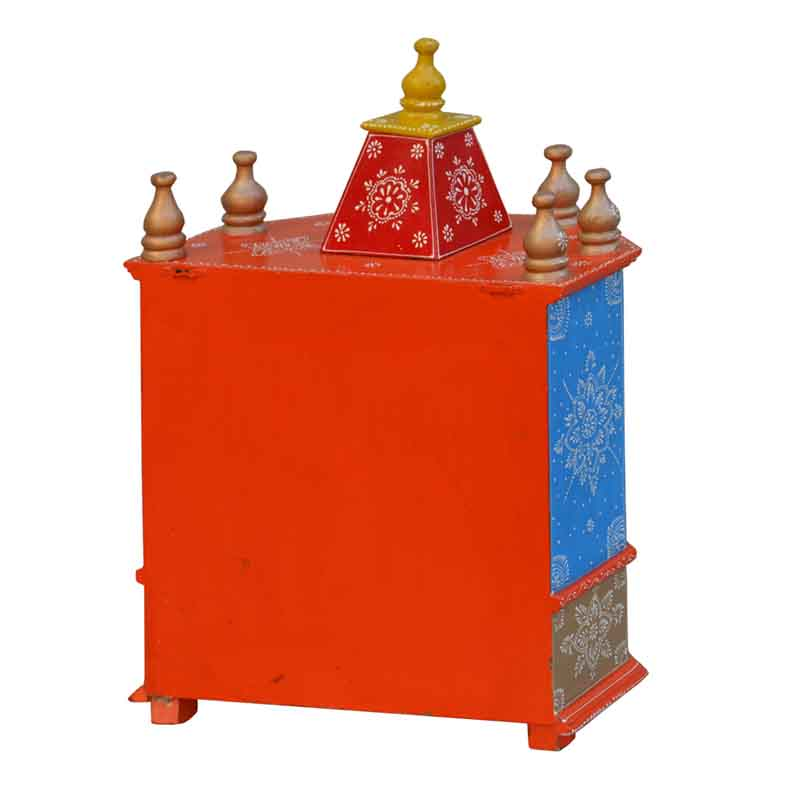 Glow Homes Hand Painted Wooden  Temple se-66+2