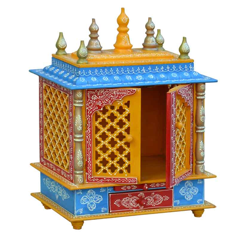 Glow Homes Hand Painted Wooden  Temple se-77c